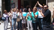 un momento durante el cash mob Alicante