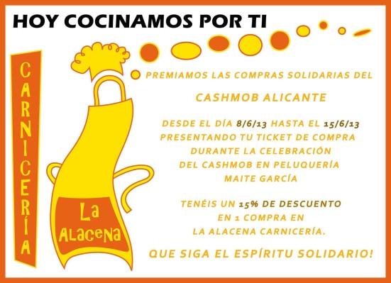 Carnicería La Alacena, Cashmob Alicante, descuento